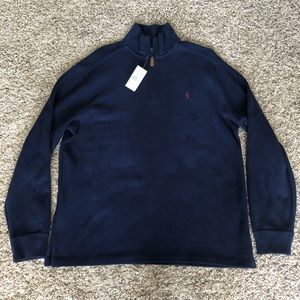 Polo Ralph Lauren 1/4 zip cotton pullover sweater